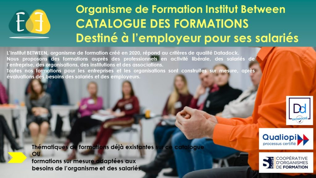 Présentation formation pour entreprises et organismes l'Institut Between
