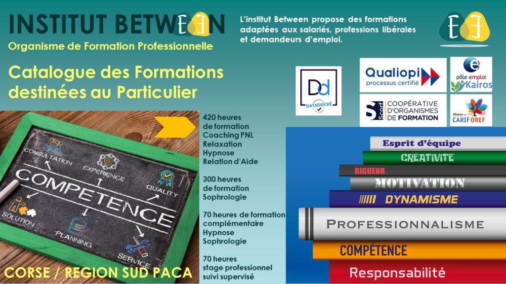 Catalogue des formation Institut Between